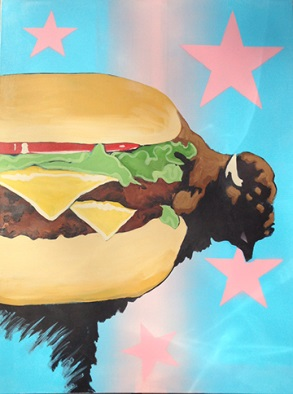 "(""Buffalo Burger Study"" by Frank Buffalo Hyde)"